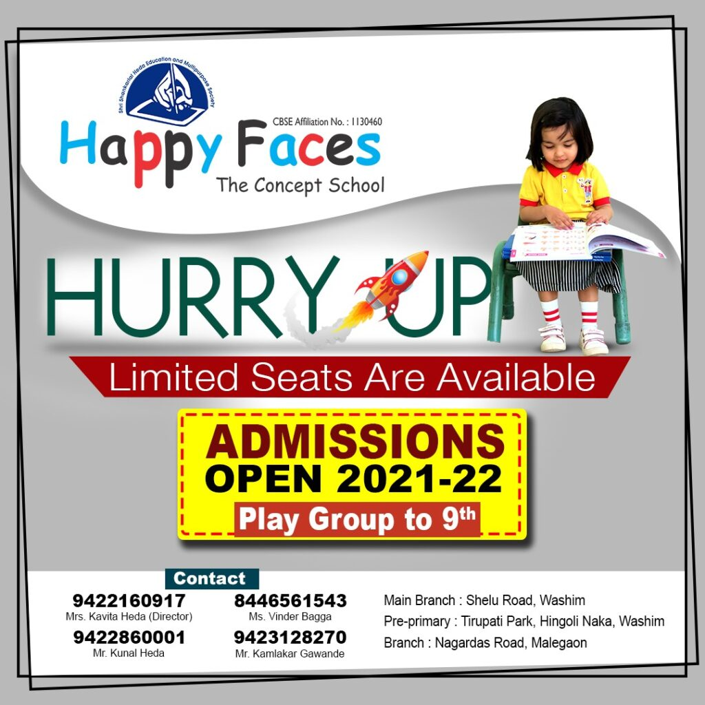 Happy faces Admission Open